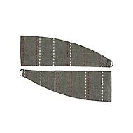 Enara Anthracite Pin stripe Curtain tie, Pack of 2