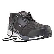Site Agile Black Safety trainers, Size 10