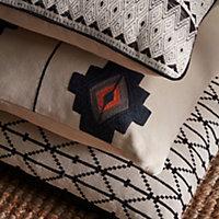 Chrissy Diamond Black & cream Cushion