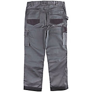 "Site Jackal Grey/Black Men's Trousers, W32"" L30"""