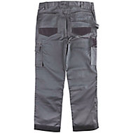 "Site Jackal Grey/Black Men's Trousers, W34"" L34"""