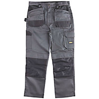 "Site Jackal Grey/Black Men's Trousers, W36"" L30"""