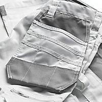 "Site Jackal White/Grey Men's Trousers, W30"" L32"""