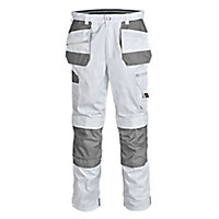 "Site Jackal White/Grey Men's Trousers, W32"" L32"""