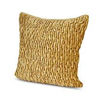 Pleated Ochre Cushion
