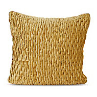 Pleated Ochre Cushion