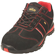 Site Coltan Black & Red Safety trainers, Size 10