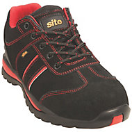 Site Coltan Black & Red Safety trainers, Size 9