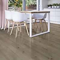 Colours Dolce Grey Oak effect Laminate flooring, 1.19m² Pack
