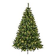 7ft Ridgemere Pine Pre-lit Artificial Christmas tree