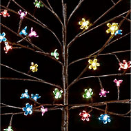 5ft Multicolour cherry blossom Artificial Christmas tree