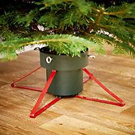 Metal & plastic 46cm Christmas tree stand