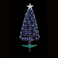 2.5ft Black Fibre optic christmas tree