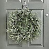 50cm Glitter effect Pine Christmas wreath