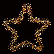 Warm white LED Star cluster Silhouette