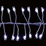 800 White LED Door garland String lights