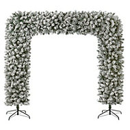 8ft Flocked Artificial Christmas tree arch