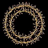 Warm white LED Wreath starburst Silhouette