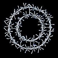 White LED Wreath starburst Silhouette