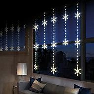 390 Warm white LED Snowflake Curtain light