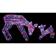 Multicolour LED Mother & baby deer Silhouette