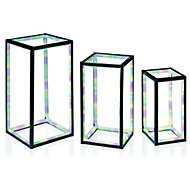 Multicolour LED Freestanding rectangles Silhouette, Pack of 3