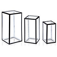 White LED Freestanding rectangles Silhouette, Pack of 3