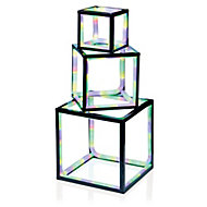 Multicolour LED Freestanding cubes Silhouette
