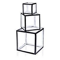 White LED Freestanding cubes Silhouette, Pack of 3