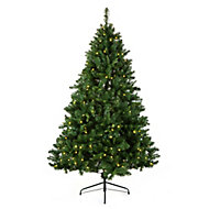 8ft Oregon Full Pre-lit Artificial Christmas tree