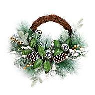 45cm Frozen effect Christmas wreath