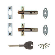 Concealed Door Security Bolts (L) 78mm, Pack of 2