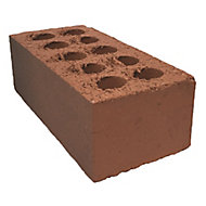 Red Weathered Facing brick (L)215mm (W)102.5mm (H)73mm, Pack of 424