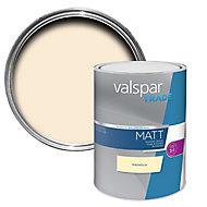 Valspar Trade Magnolia Matt Emulsion paint, 5L