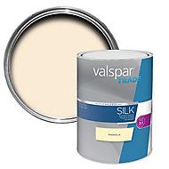 Valspar Trade Magnolia Silk Emulsion paint, 5L