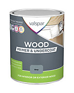 Valspar Grey Wood Primer & undercoat, 0.75L