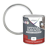 Valspar Difficult surfaces White Primer & undercoat, 0.75L