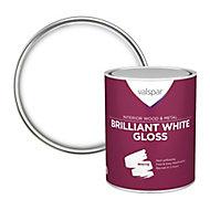 Valspar Pure brilliant white Gloss Metal & wood paint, 0.75L