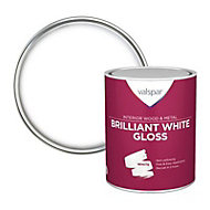 Valspar Pure brilliant white Gloss Metal & wood paint, 0.75L