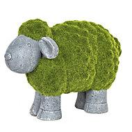 La Hacienda Flocked sheep Garden ornament