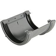 FloPlast Half Round Gutter union bracket (Dia)112 mm, Grey