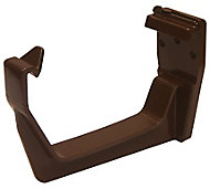 FloPlast Square Gutter fascia bracket (Dia)114mm, Brown, Pack of 1