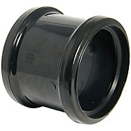 FloPlast Black Push-fit Underground drainage Coupler (Dia)110mm