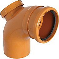 FloPlast Underground drainage Access Bend 288131, (Dia)110mm (L)151mm