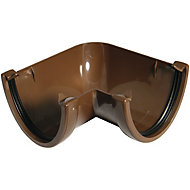 FloPlast Hi-Cap 90° Gutter angle (Dia)115mm, Brown