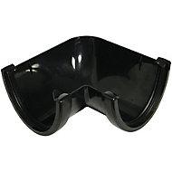 FloPlast Hi-cap Black 90° Gutter angle, (Dia)115mm
