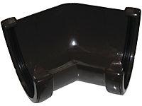 FloPlast Hi-Cap 45 ° Gutter angle (Dia)115mm, Brown