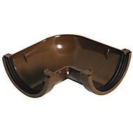 FloPlast Miniflo Brown 90° Gutter angle, (Dia)76mm