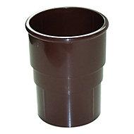 FloPlast Miniflo Gutter downpipe socket (Dia)50mm (L)0.06m, Brown