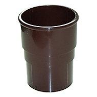 FloPlast Miniflo Brown Half round Gutter socket (L)59mm (Dia)50mm